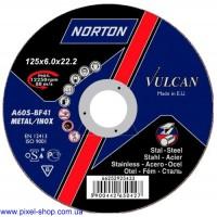 Круг абразивный шлифовальный 125х6,0х22,2 A30P BF NORTON для стали (размеры 115-230мм)