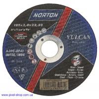 Круг абразивный 125х2,0х22,2 A30P BF NORTON для нержавеющей стали (размеры 115-125мм)