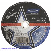 Круг абразивный 230х2,5х22,2 A30P BF NORTON для стали (размеры 115-400мм)