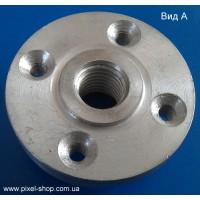 Фланец алюминиевый 125х4хМ14мм REKS к дискам диаметром 125мм