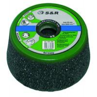 Чашка абразивная S&R Power 110/90x55xМ14мм зерно 60 для камня, бетона