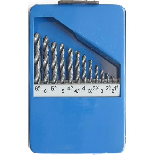 Сверло по металлу в наборе (19шт.) размер 1.0-10.0мм HSS DIN338 ASTER