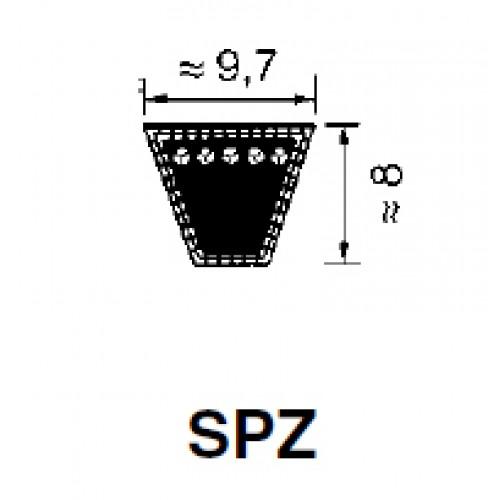 Ремень узкий, клиновой, серии SPZ 9,7 x 8,0 х 737мм Optibelt SK (для LR-CT500)